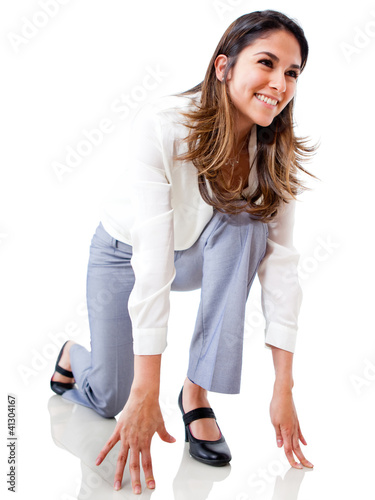 Businesswoman in position to run