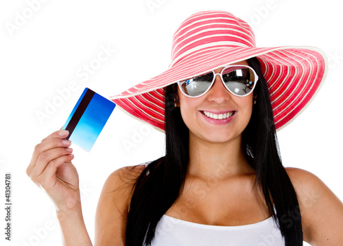 Woman planning her vacations