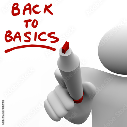 Back to Basics Writing Message Red Marker