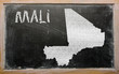 outline map of mali on blackboard