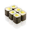 Japanese cuisine. Sushi roll with avocado.