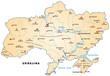 Inselkarte der Ukraine