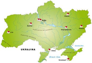Internetkarte der Ukraine