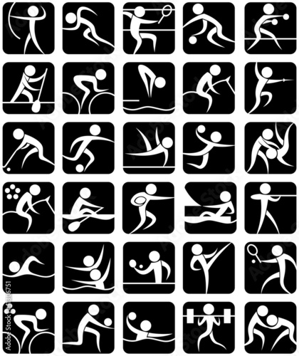 poster of Summer Sports Symbols