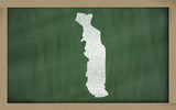 outline map of togo on blackboard