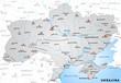 Übersichtskarte der Ukraine mit Nachbarländern