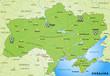 Umgebungskarte der Ukraine mit EM-Austragungsorten