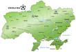 Fussballkarte der Ukraine