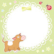 Vector background with cute calf