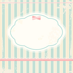 Vector background in shabby chic style