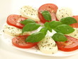 Caprese salad, isolated