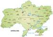 Inselkarte der Ukraine mit Hauptstädten