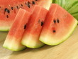 Three pieces of watermelon, closeup