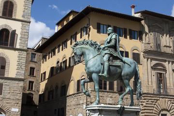 Florence - Statue de Cosme 1er (Giambologna)