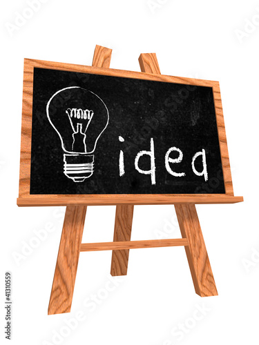 idea on blackboard