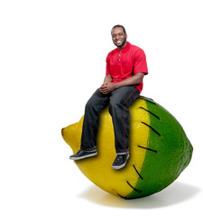 Black Man Stitched Lemon and Lime