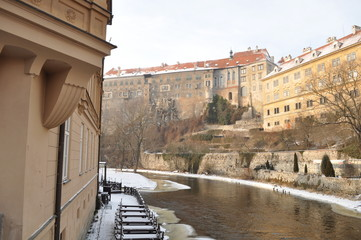 The historic city of Cesky Krumlov.