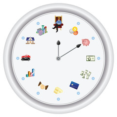 Time is money *** vector only, no bitmap