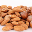 closeup on almonds