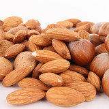 closeup on almonds