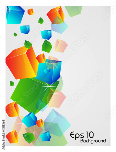 Deurstickers Geometrische dieren Abstract shapes background with colorful design for text project