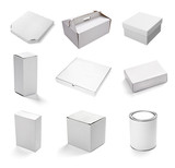 Fototapety blank white box container