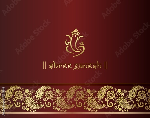 Indian Wedding Cards Design Vector Indian Wedding Card Design