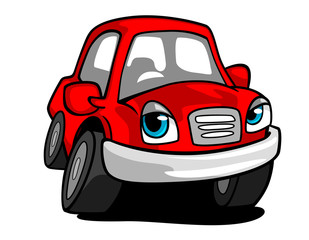 Cartoon red car
