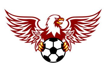 Heraldic eagle with ball