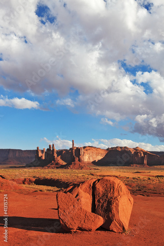 The  cliffs of various forms of Monument Valley