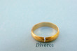 wedding ring with a crack in it ( divorce concept)
