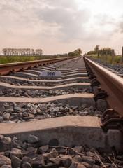Single railway track to infinity
