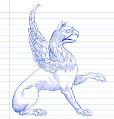 Griffin.Hand drawing