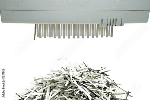 Paper shredder and shred mount