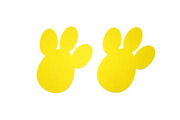 Yellow bunny tracks top view