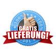 Gratis Lieferung! Button, Icon