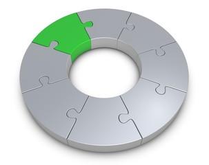 Ring Puzzle grün