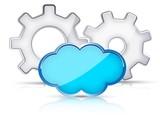 Gear wheels Cloud concept