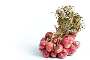 Shallots on isolated white