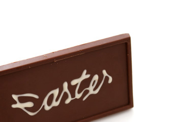 Easter chocolate bar from bottom