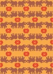 Festive typical indian elephant orange background