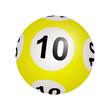 Tirage loto, boule numéro 10