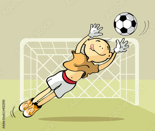 Goalkeeper catching the ball