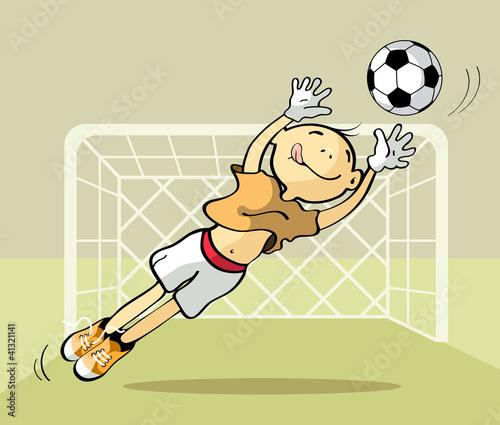 Goalkeeper catching the ball