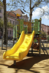 yellow slide