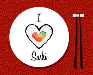 I love sushi restaurant background