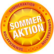 "Button Sonne ""Sommeraktion"" gelb/orange"