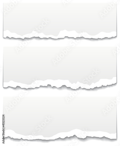 Torn and unstuck banners. Stylized backgrounds.