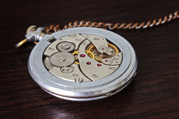 Watch mechanism, mechanical pocket watch