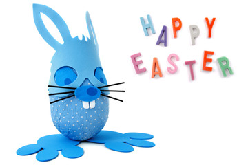 Happy Easter blue bunny